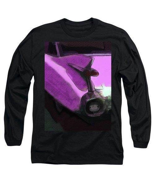 Pink 1959 Cadillac Tailfin Pop Long Sleeve T-Shirt