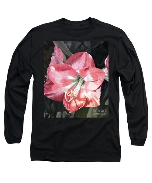 Pink Amaryllis Long Sleeve T-Shirt