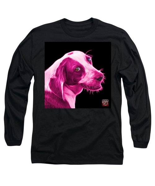 Pink Beagle Dog Art- 6896 - Bb Long Sleeve T-Shirt