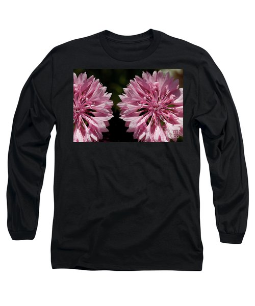 Pink Cornflowers Long Sleeve T-Shirt