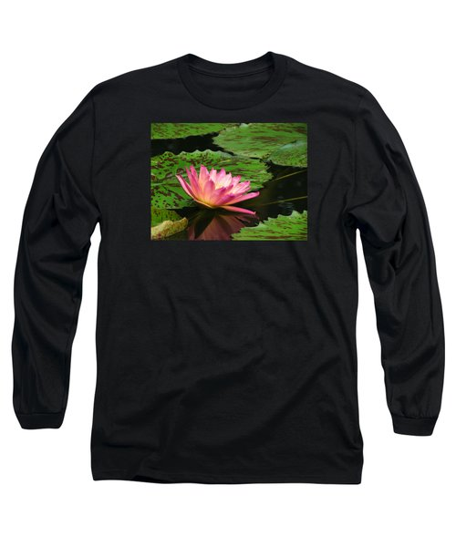 Pink Lily Reflection Long Sleeve T-Shirt