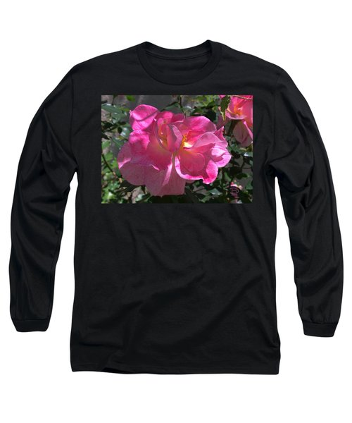 Pink Passion Long Sleeve T-Shirt by Daniel Hebard