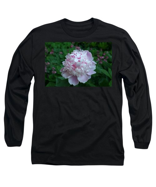 Long Sleeve T-Shirt featuring the digital art Pink Peony by Barbara S Nickerson