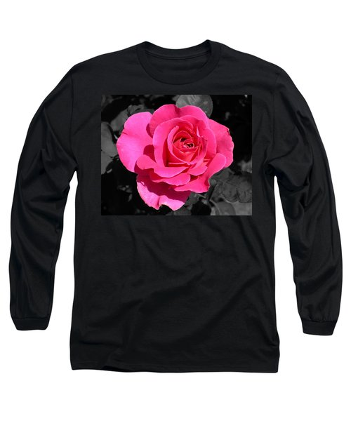 Perfect Pink Rose Long Sleeve T-Shirt by Michael Bessler