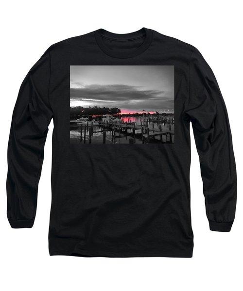 Pink Sunset Long Sleeve T-Shirt