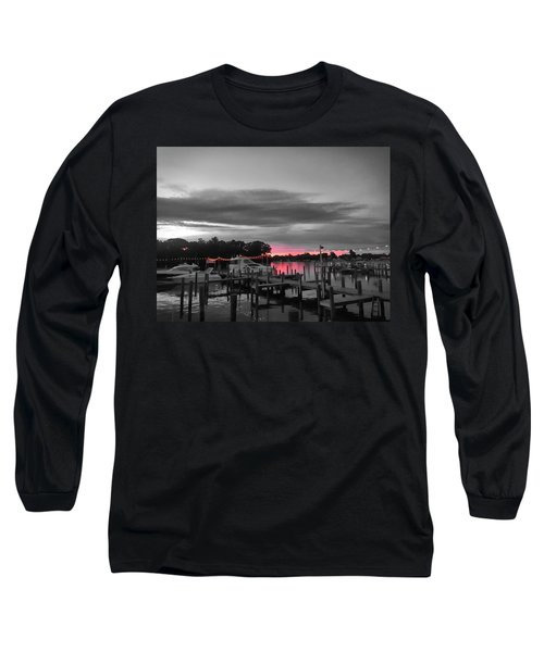 Pink Sunset Long Sleeve T-Shirt