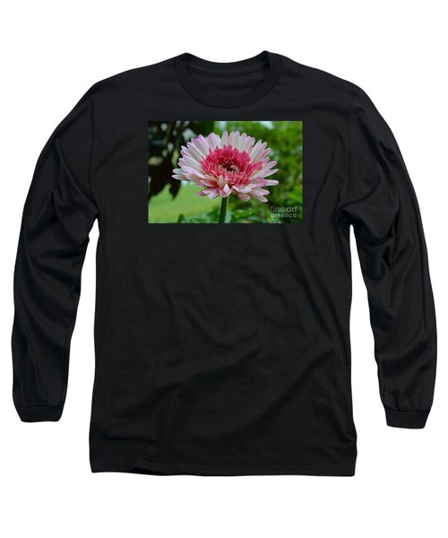 Pink Watermelon Long Sleeve T-Shirt by Lew Davis