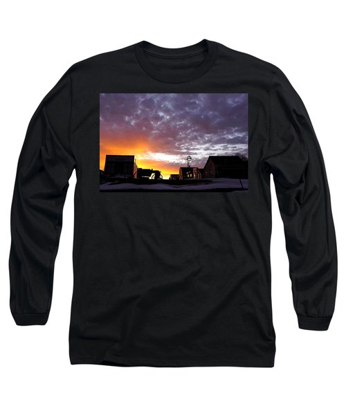 Pioneer Town Sunset Long Sleeve T-Shirt