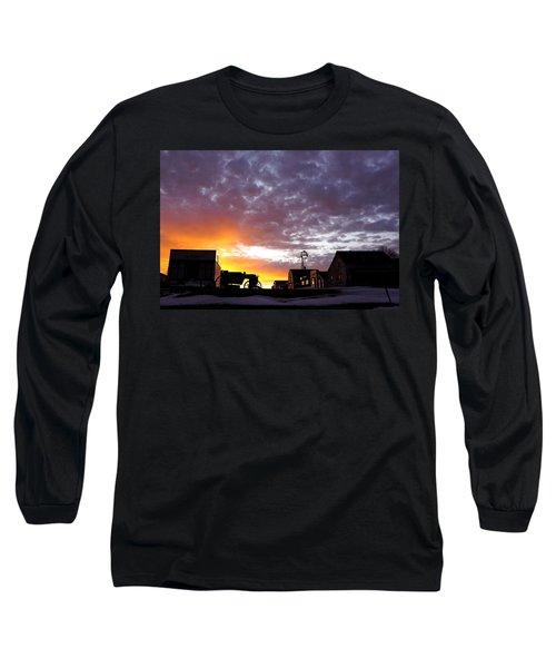 Pioneer Town Sunset Long Sleeve T-Shirt