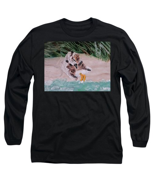 Piping Plover Chick 2 Long Sleeve T-Shirt