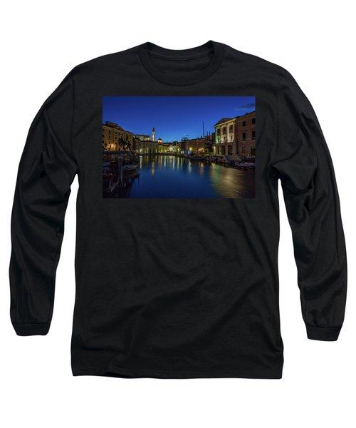 Long Sleeve T-Shirt featuring the photograph Piran Marina Dawn - Slovenia by Stuart Litoff