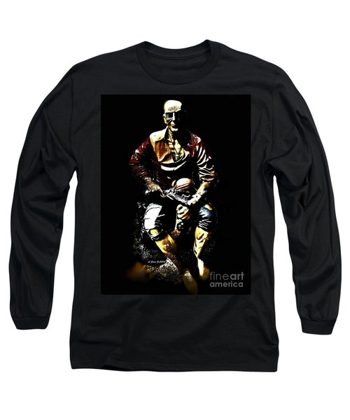 Long Sleeve T-Shirt featuring the photograph Pirate And Skull by Annie Zeno