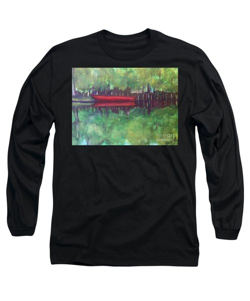 Pirogue On Bayou Lafourche Long Sleeve T-Shirt