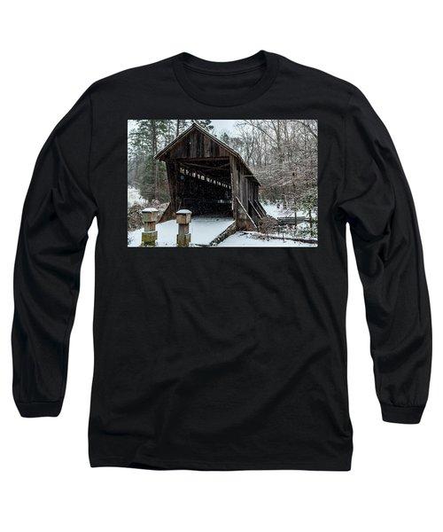 Pisgah Covered Bridge - Modern Long Sleeve T-Shirt