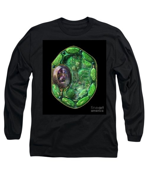 Long Sleeve T-Shirt featuring the digital art Plant Cell by Russell Kightley