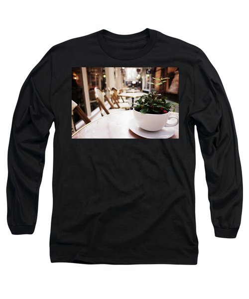 Plant In A Cup In A Cafe Long Sleeve T-Shirt
