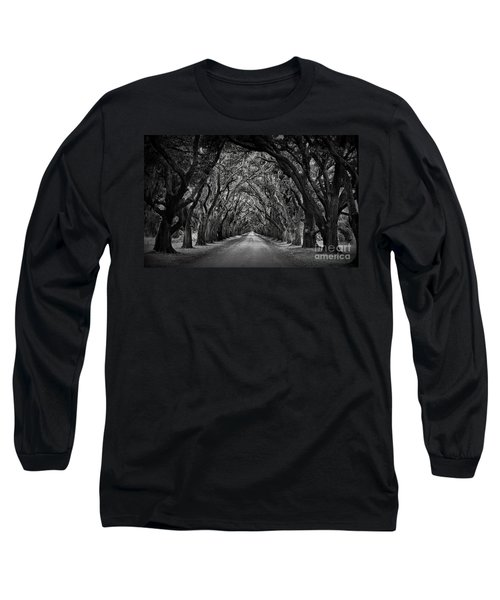 Plantation Oak Alley Long Sleeve T-Shirt by Perry Webster