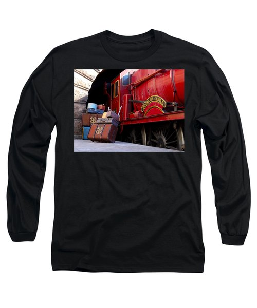 Platform Nine And Three Quarters Long Sleeve T-Shirt by Julia Wilcox