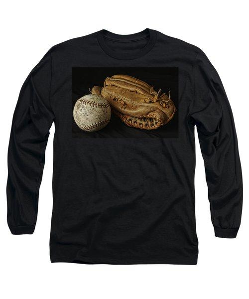 Play Ball Long Sleeve T-Shirt by Richard Rizzo