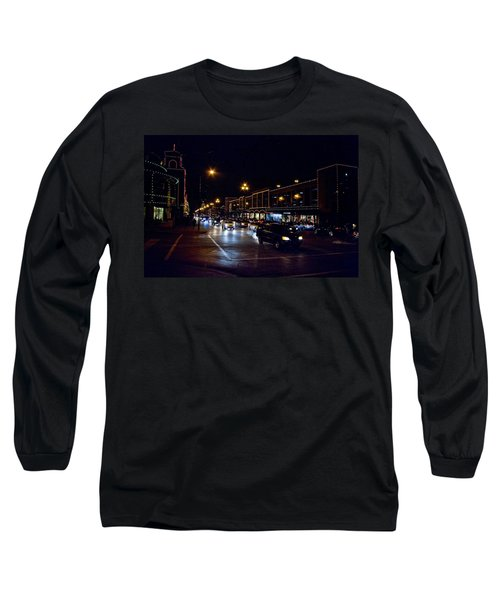 Long Sleeve T-Shirt featuring the photograph Plaza Lights by Jim Mathis