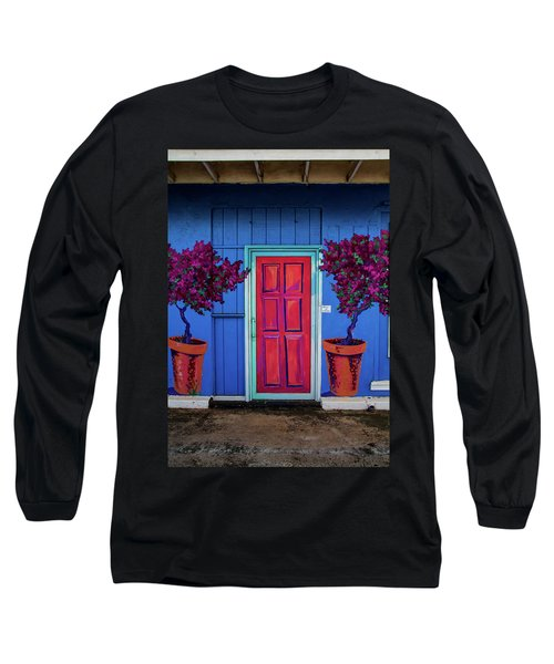 Long Sleeve T-Shirt featuring the photograph Please Use Other Door by Roger Mullenhour