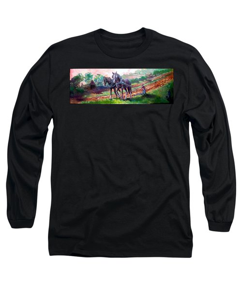 Ploughing Long Sleeve T-Shirt by Paul Weerasekera