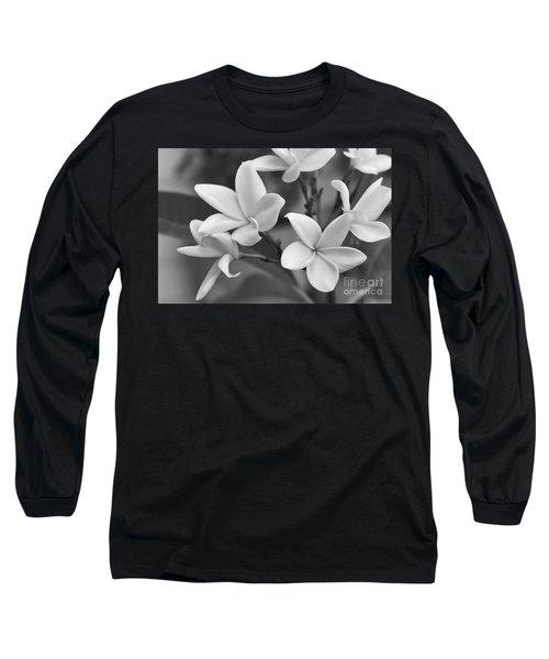 Plumeria Flowers Long Sleeve T-Shirt by Olga Hamilton