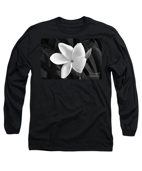 Plumeria In Monochrome Long Sleeve T-Shirt