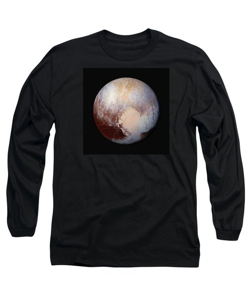 Pluto Dazzles In False Color - Square Crop Long Sleeve T-Shirt