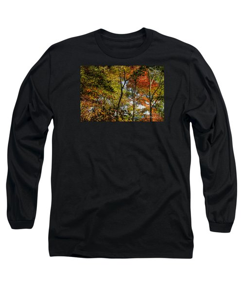 Pockets Of Color Emerging Long Sleeve T-Shirt by Barbara Bowen