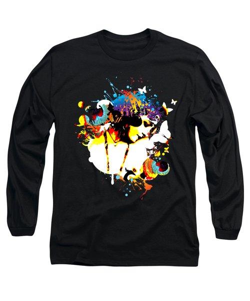 Poetic Peacock Long Sleeve T-Shirt