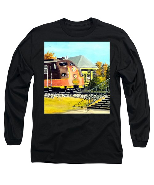 Long Sleeve T-Shirt featuring the painting Polar Express by Jim Phillips