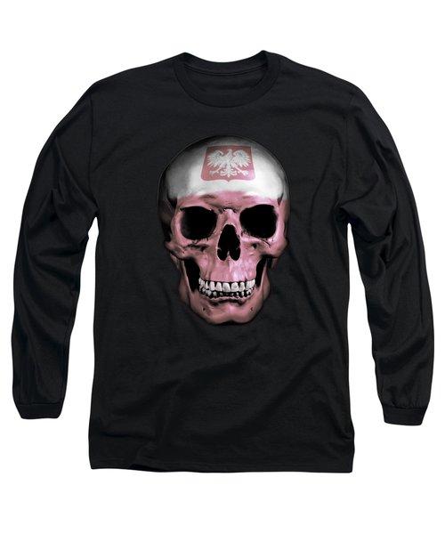Long Sleeve T-Shirt featuring the digital art Polish Skull by Nicklas Gustafsson