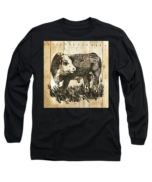 Polled Hereford Bull 11 Long Sleeve T-Shirt