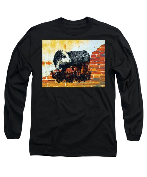 Polled Hereford Bull  Long Sleeve T-Shirt