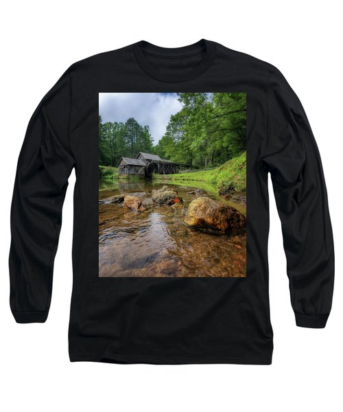 Pond At Mabry Mill Long Sleeve T-Shirt