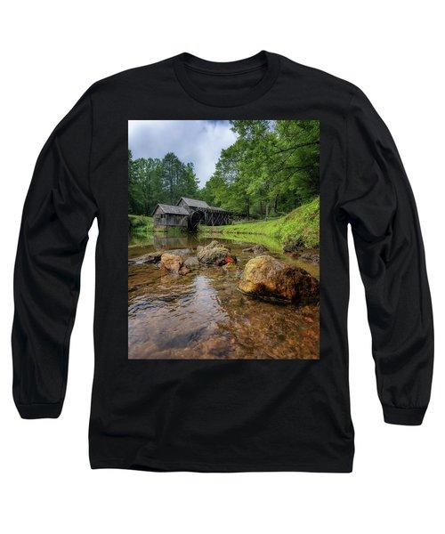 Pond At Mabry Mill Long Sleeve T-Shirt