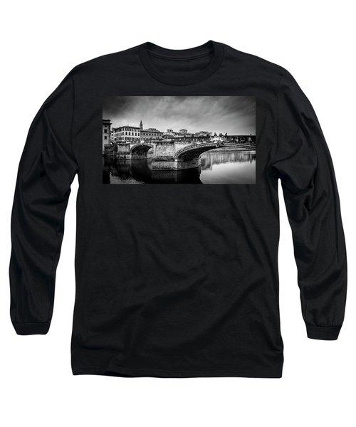 Long Sleeve T-Shirt featuring the photograph Ponte Santa Trinita by Sonny Marcyan