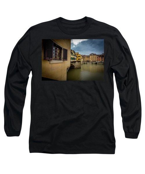 Ponte Vecchio Long Sleeve T-Shirt by Sonny Marcyan