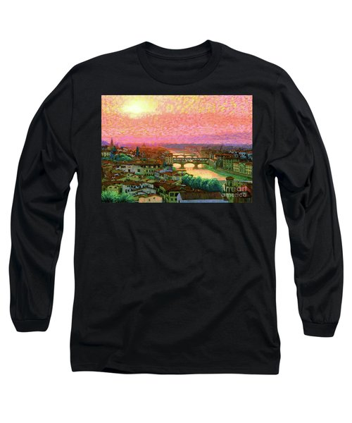 Ponte Vecchio Sunset Florence Long Sleeve T-Shirt
