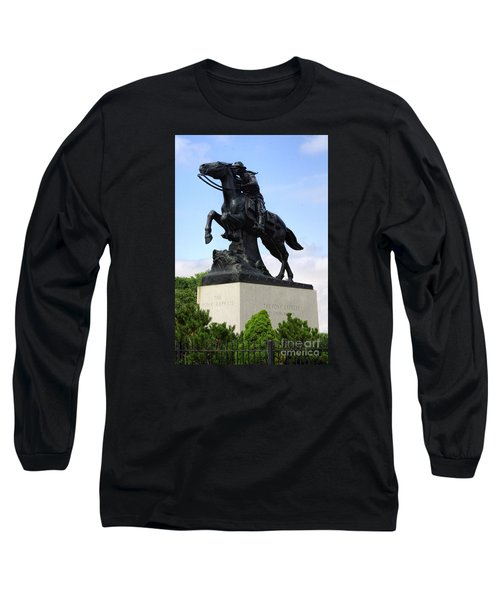 Pony Express Rider Long Sleeve T-Shirt by Linda Phelps
