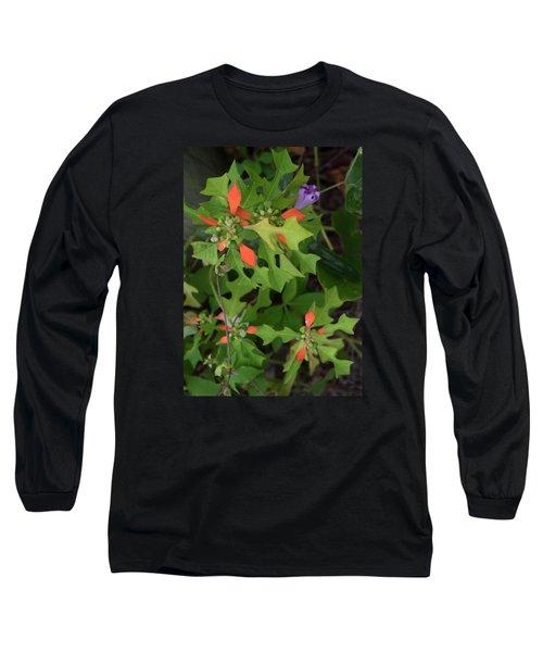 Pop Of Color Long Sleeve T-Shirt by Deborah  Crew-Johnson