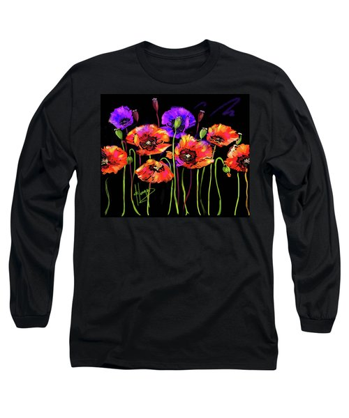 Poppies Long Sleeve T-Shirt by DC Langer