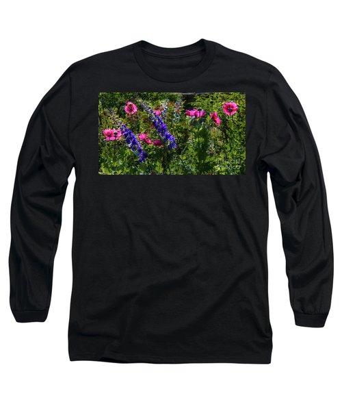 Poppies Long Sleeve T-Shirt by Lisa L Silva