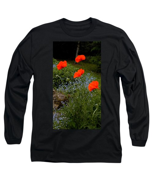 Poppy Foursome Long Sleeve T-Shirt by Renate Nadi Wesley