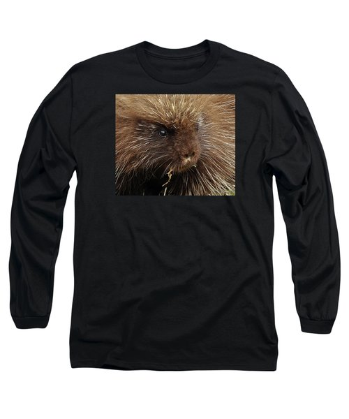 Long Sleeve T-Shirt featuring the photograph Porcupine by Glenn Gordon