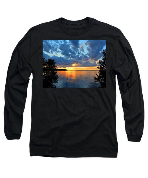 Porcupine Mountains Sunset Long Sleeve T-Shirt by Keith Stokes