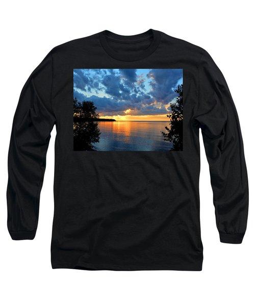 Porcupine Mountains Sunset Long Sleeve T-Shirt