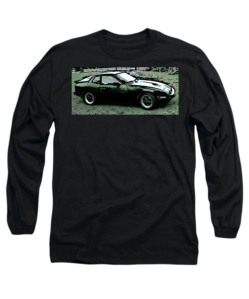 Porsche 944 On A Hot Afternoon Long Sleeve T-Shirt by George Pedro