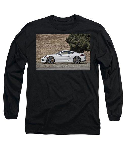 Porsche Cayman Gt4 Side Profile Long Sleeve T-Shirt